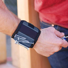 Magnetic Tool Wristband with Pocket