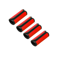 Neoprene Luggage Handle Wrap Grips - 4 Pack - Black, Blue, Red or Yellow