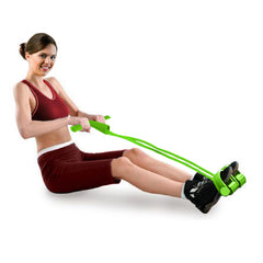 Resistance Band Abdominal Trainer - Blue, Green, Pink or Purple