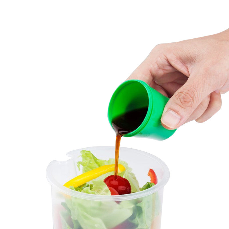 shopify-Salad or Lunch To Go Container w Fork and Dressing Cup- Two pack - Red or Green-3