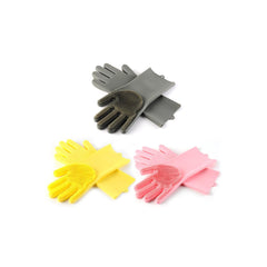 Silicone Dishwashing Gloves with Scrubbers