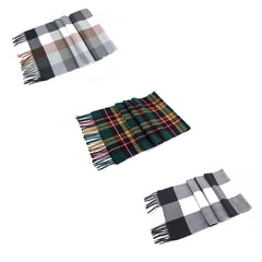 Soft Tartan Plaid Blanket Scarf