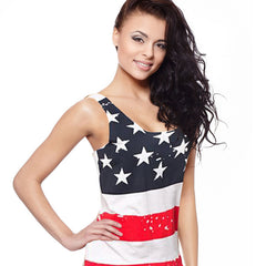 American Flag Tank Top - Small - Large