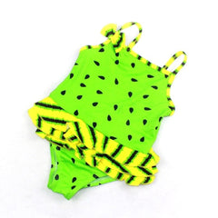 Little Girls' Melon Design Swimsuit