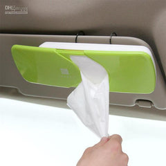 Plastic Sunvisor Tissue Box - Pink, Green or Yellow
