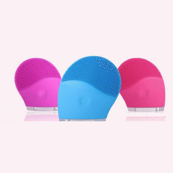 Rechargeable Silicone Facial Brush - Blue, Light Pink, Dark Pink or Purple