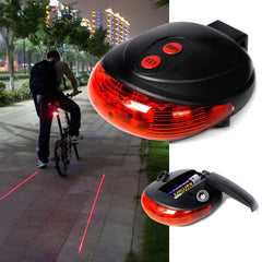5 LED Rear Bike Safety Light - Red