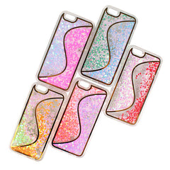 Liquid Glitter S Design Phone Case for iPhone 5/5S/6/6S/6+ - Green, Red , Gold, Pink or Purple