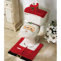 Santa Toilet Cover & Rug Set