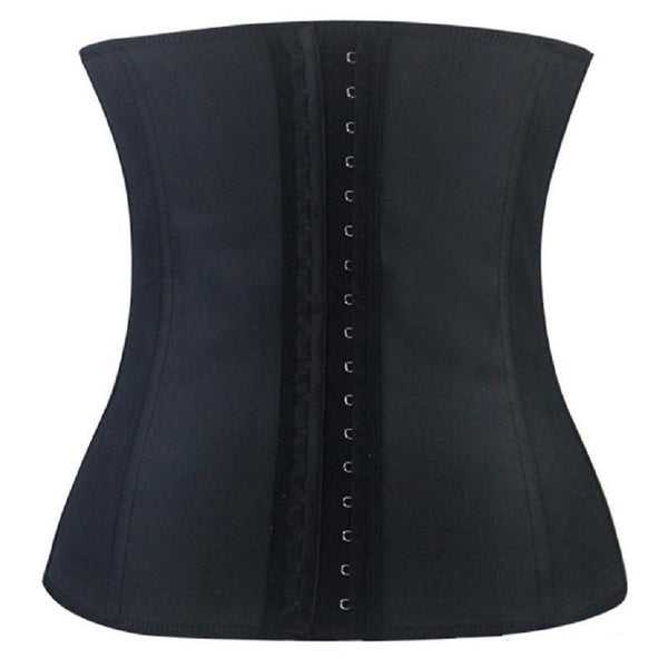 Steel Boned Latex Corset - Black, Blue, Pink or Purple - Small - Large