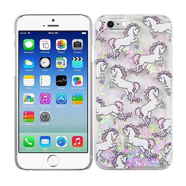 Unicorn Glitter Quicksand Phone Case for iPhone 6 and 6 Plus