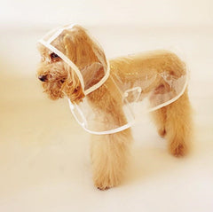 Clear Waterproof Pet Hoodie/Rain Jacket - Sm, Med, Lg or Xl