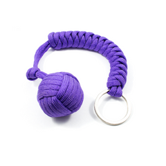 Monkey Fist Keychain - Black, Pink, Purple, Teal or Black
