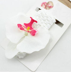 Orchid Headband - Pink, Purple, Green, Yellow and White