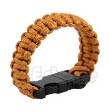 Survival Bracelet with Paracord/Flint Scraper/Whistle/Cutting Tool
