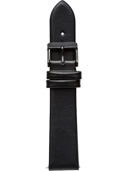 Midnight Black Leather Strap