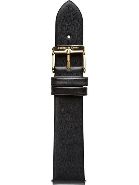 Black & Gold Leather Strap