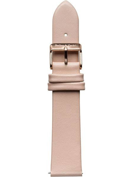 Peach & Rose Gold Leather Strap