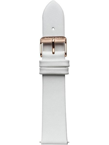 White & Rose Leather Strap