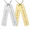 Double Personalized Bar Necklace