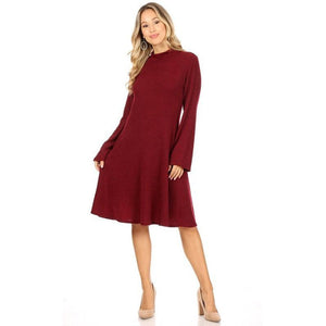 Smooth Mover Dress Burgundy