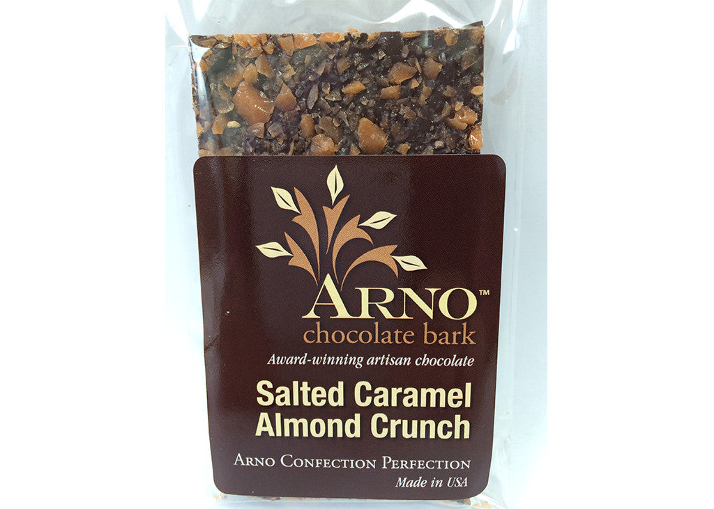 Salted Caramel Almond Crunch Bark