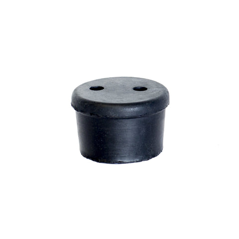 2 HOLE LARGE BLACK STOPPER/GROMMET