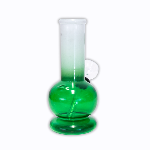 WATERFALL - CHEEKY MINI BONG - CLEAR GREEN & FROSTED WHITE
