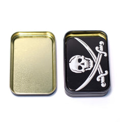 METAL TIN - JOLLY RODGER SET OF 2
