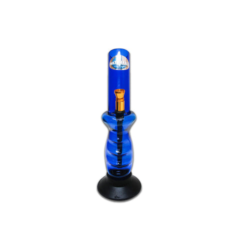 WATERFALL - ACRYLIC GRIPPER BLUE BONG