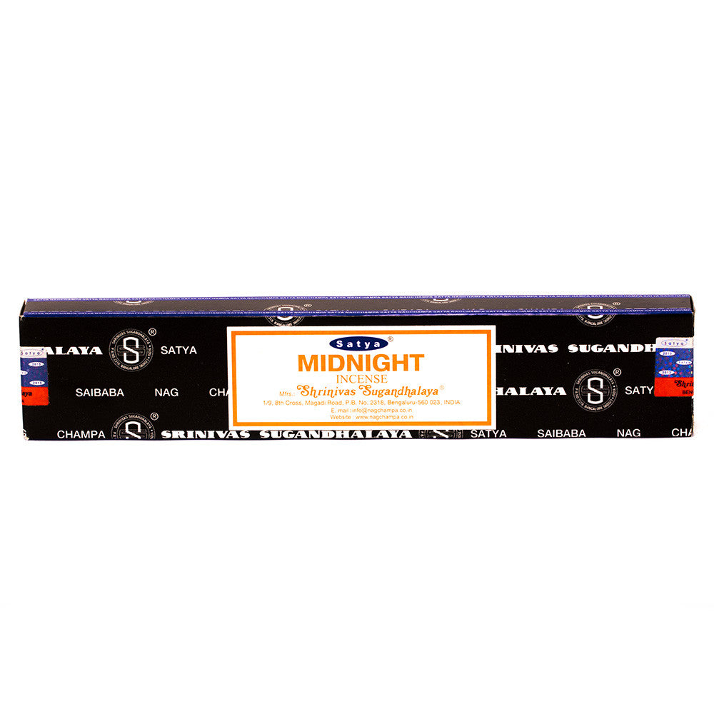 INCENSE - SATYA Nag Champa MIDNIGHT STICKS 15g