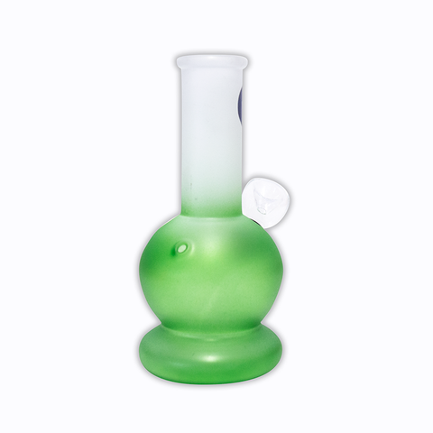 WATERFALL - HAPPY MINI BONG - FROSTED GREEN & WHITE