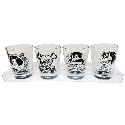 SHOT GLASSES - POURITE SLAMMERS 4 PK