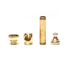 SMALL SOLID BRASS PIPE 4CM