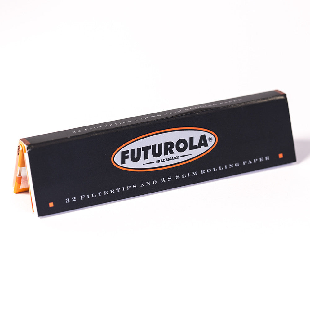 PAPERS - KING SIZE SLIM W TIPS FUTUROLA 32 PER BOOK