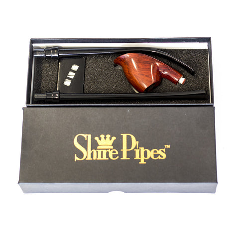 "PIPE -  12.5"" SHIRE VOLCANO ROSEWOOD W FLAT & BENT STEMS"