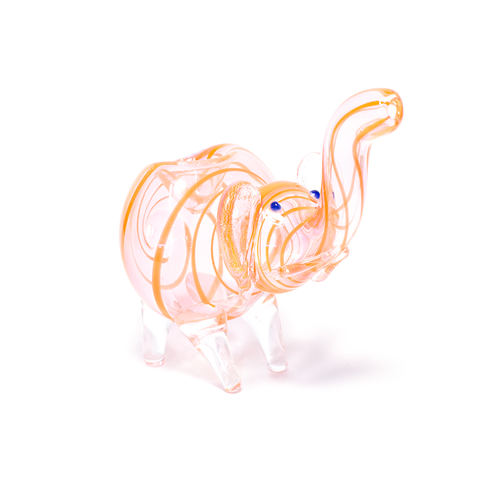 NELLY THE ELEPHANT GLASS PIPE (RUST)
