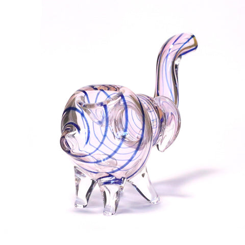 NELLY THE ELEPHANT GLASS PIPE (BLUE)