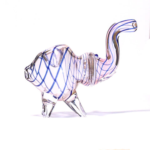 PIPE - GLASS ELEPHANT  BLUE