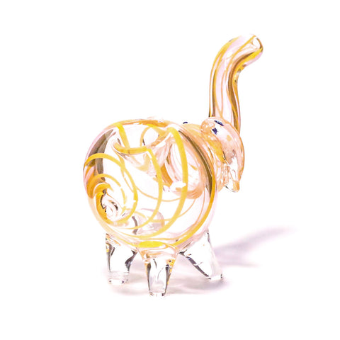 PIPE - GLASS ELEPHANT  YELLOW