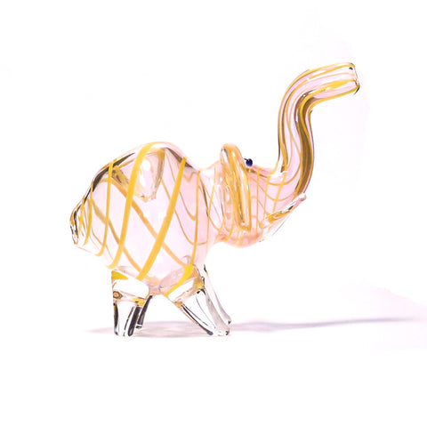 NELLY THE ELEPHANT GLASS PIPE (YELLOW)