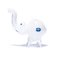 NELLY THE ELEPHANT GLASS PIPE (SOLID WHITE)