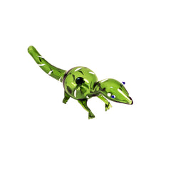GREEN GLASS LIZARD DRY PIPE
