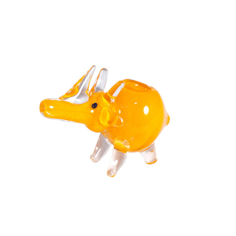 ORANGE RHINO GLASS DRY PIPE