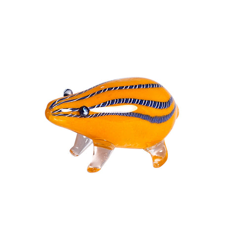 ORANGE MOUSE WOMBAT GLASS DRY PIPE
