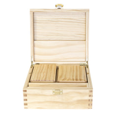 WOOD ROLLING STORAGE BOX EXTRA LARGE