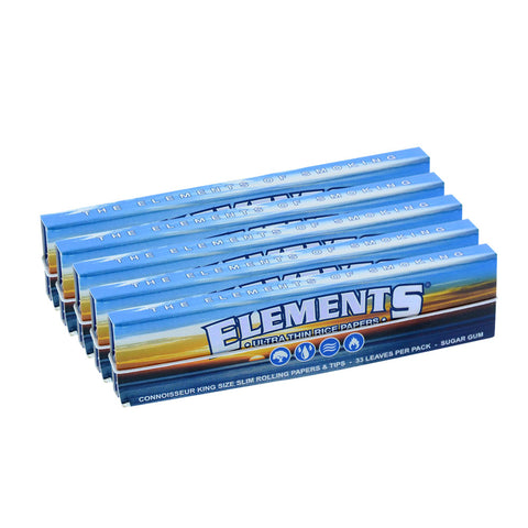 5 PACK - ELEMENTS CONNOISSEUR K/S SLIM + TIPS