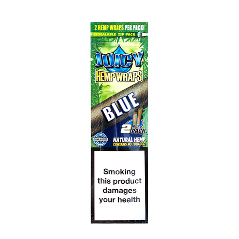 JUICY JAY'S HEMP WRAPS BLACK ' N ' BLUEBERRY - 2 PACK
