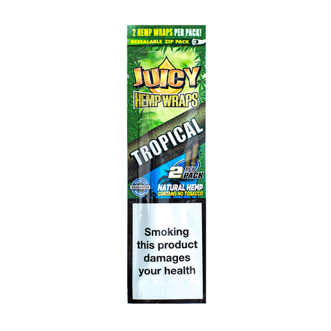 JUICY JAY'S HEMP WRAPS TROPICAL PASSION - 2 PACK