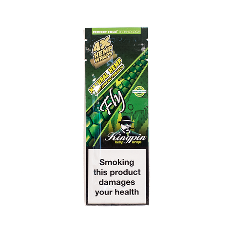 KINGPIN HEMP WRAP - FLY (ENERGY DRINK) 4x NO TOBACCO
